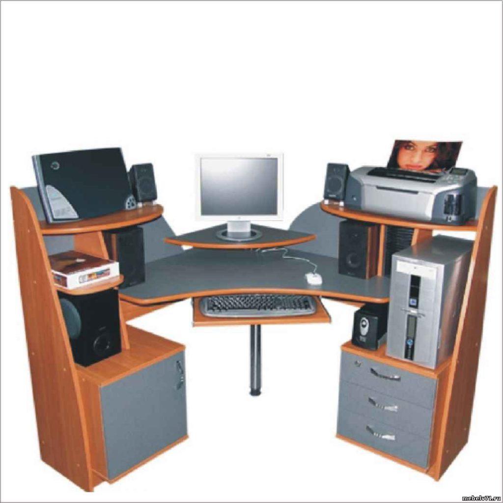 Компьютерный стол угловой: фото, выбор, заказать.